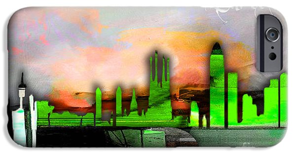Barcelona Spain Skyline Watercolor IPhone 6s Case