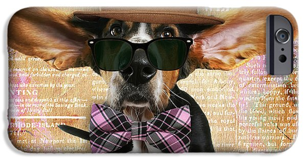Bassett Hound Bowtie Collection IPhone 6s Case by Marvin Blaine