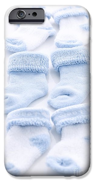 Sock iPhone 6s Case - Blue Baby Socks by Elena Elisseeva 1824a176644d