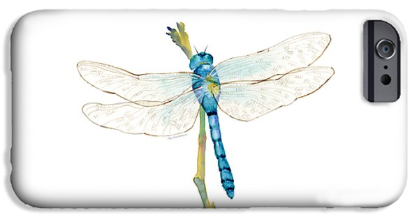 Blue Dragonfly IPhone 6s Case by Amy Kirkpatrick