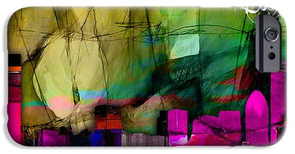 Boston Skyline Watercolor IPhone 6s Case
