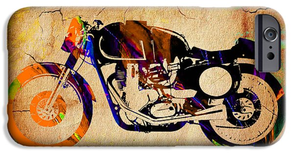 Cafe Racer Painting. IPhone 6s Case by Marvin Blaine