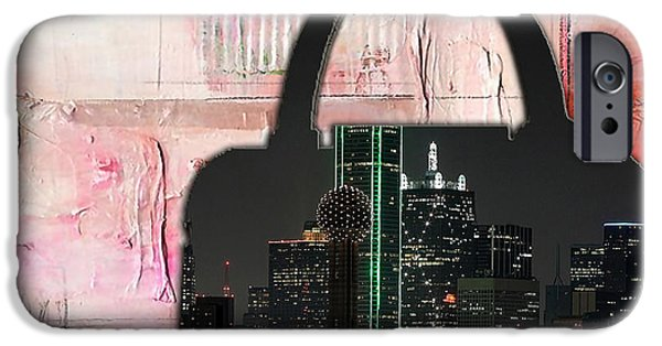 Dallas Texas Skyline In A Purse IPhone 6s Case by Marvin Blaine