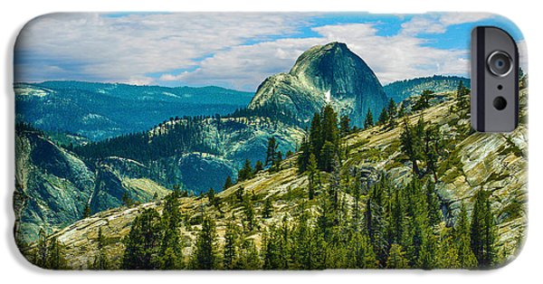 Half Dome Yosemite National Park IPhone Case by Bob and Nadine Johnston
