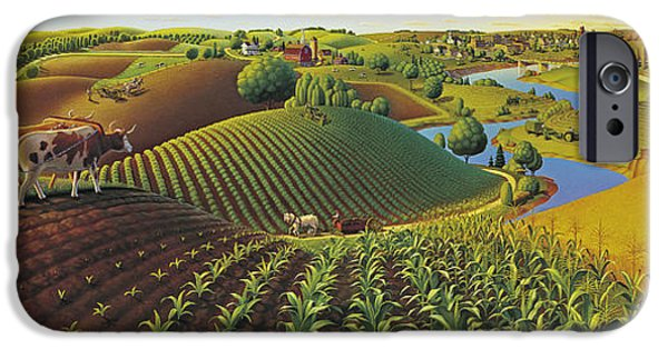 Rural Scenes iPhone 6s Case - Harvest Panorama  by Robin Moline