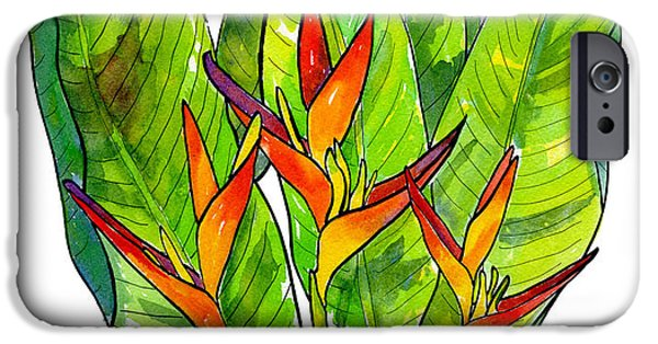 Heliconia IPhone 6s Case by Diane Thornton