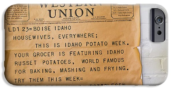 Idaho Potato Museum IPhone 6s Case by Jim West
