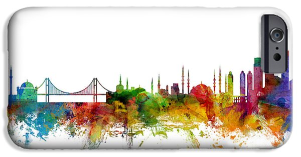 Istanbul Turkey Skyline IPhone 6s Case by Michael Tompsett
