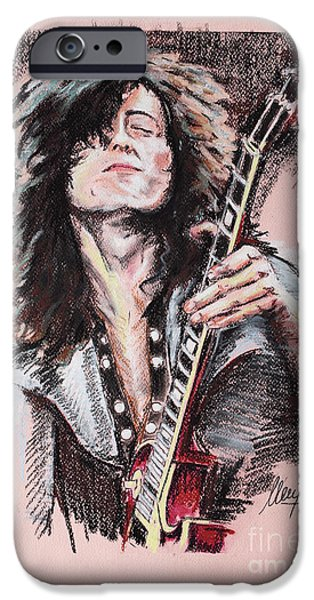 Jimmy Page iPhone 6s Case - Jimmy Page 1 by Melanie D