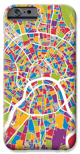 Moscow City Street Map IPhone 6s Case
