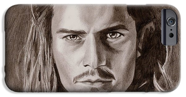 Orlando Bloom IPhone 6s Case by Michael Mestas