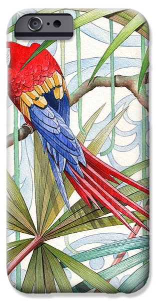 Macaw iPhone 6s Case - Parrot, 2008 by Jenny Barnard