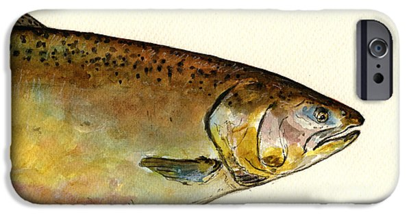 1 Part Chinook King Salmon IPhone 6s Case by Juan  Bosco