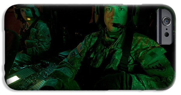 Pilots Sitting In The Cockpit IPhone Case by Terry Moore