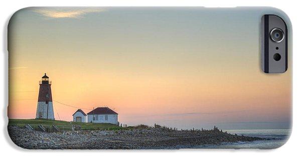 New England Coast iPhone 6s Case - Point Judith Lighthouse by Juli Scalzi