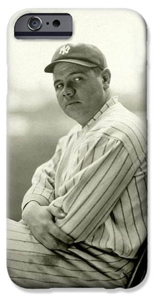 Portrait Of Babe Ruth IPhone 6s Case by Arnold Genthe
