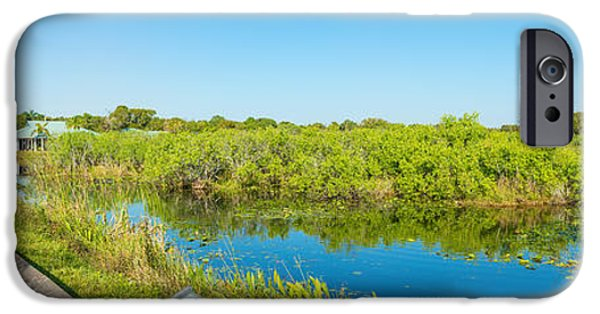 Anhinga iPhone 6s Case - Reflection Of Trees In A Lake, Anhinga by Panoramic Images
