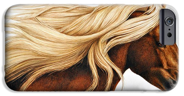Horse iPhone 6s Case - Spun Gold by Pat Erickson