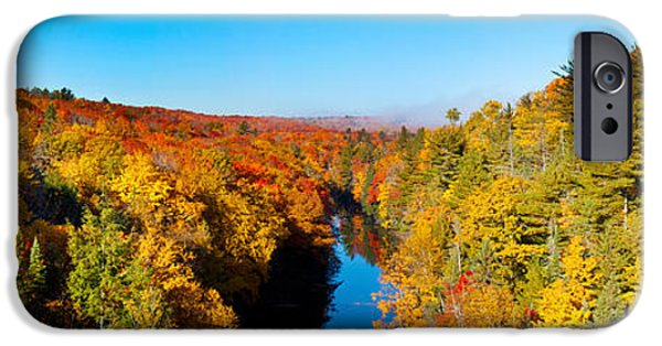 Marquette iPhone 6s Case - Trees In Autumn At Dead River by Panoramic Images