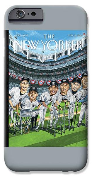 Yankee Stadium iPhone 6s Case - New Yorker April 8th, 2013 by Mark Ulriksen