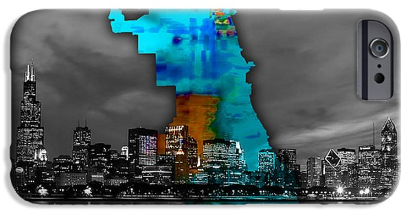 Chicago Map And Skyline Watercolor IPhone 6s Case