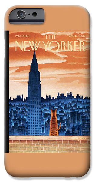 Times Square iPhone 6s Case - New Yorker January 12th, 2009 by Mark Ulriksen
