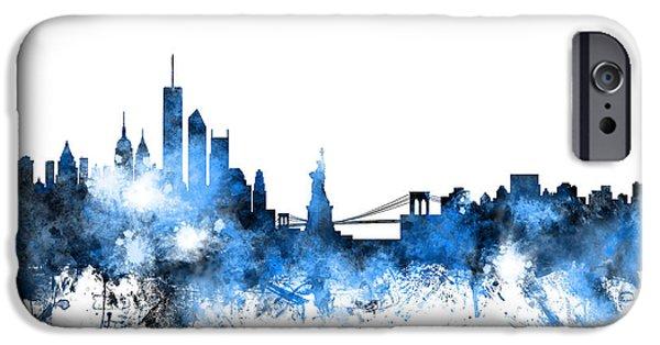 Apple iPhone 6s Case - New York Skyline by Michael Tompsett
