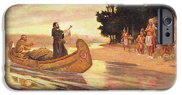 Marquette iPhone 6s Case - 1600s 1600s Father Jacques Marquette by Vintage Images