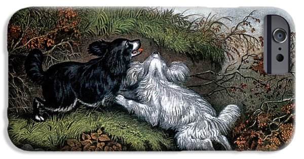 1860s Two Spaniel Dogs Flushing IPhone 6s Case