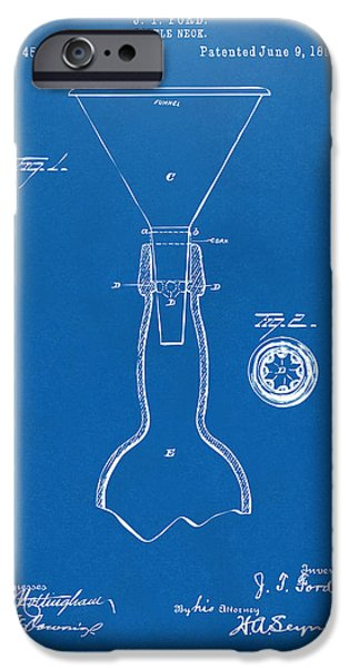 1891 Bottle Neck Patent Artwork Blueprint IPhone 6s Case by Nikki Marie Smith