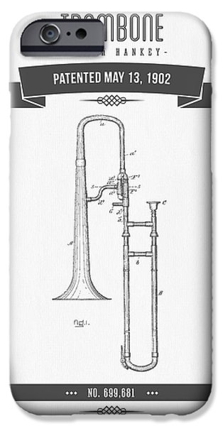 1902 Trombone Patent Drawing IPhone 6s Case