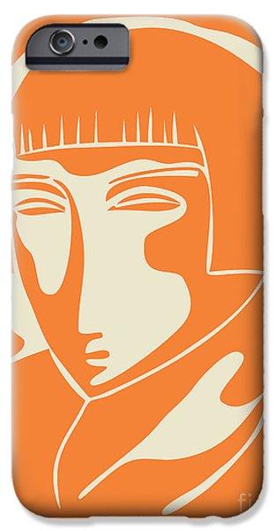 Portraits iPhone 6s Case - 1928 Woman Face   Orange by Igor Kislev