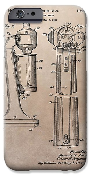 1930 Drink Mixer Patent IPhone 6s Case by Dan Sproul