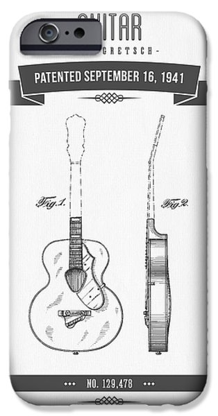 1941 Guitar Patent Drawing IPhone 6s Case by Aged Pixel