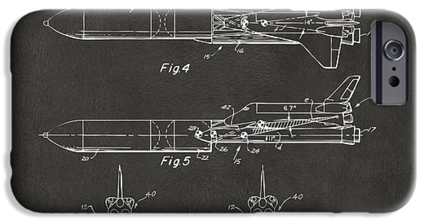 Space Ships iPhone 6s Case - 1975 Space Vehicle Patent - Gray by Nikki Marie Smith