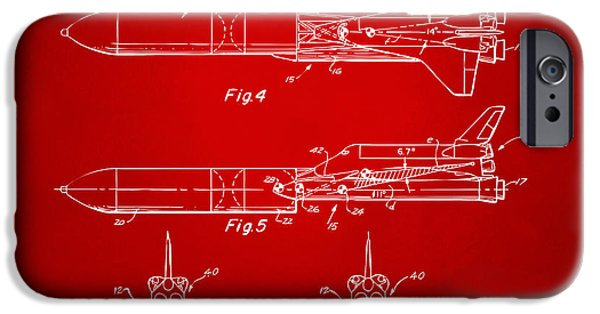 Space Ships iPhone 6s Case - 1975 Space Vehicle Patent - Red by Nikki Marie Smith