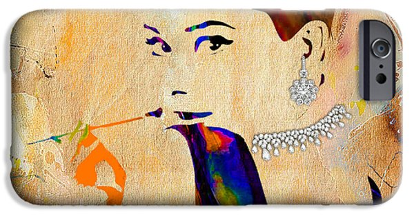 Audrey Hepburn Diamond Collection IPhone 6s Case by Marvin Blaine