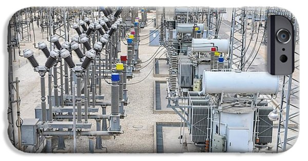 Electricity Transformation Substation IPhone Case by Photostock-israel