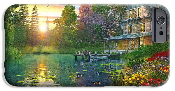Geese iPhone 6s Case - Fishing At Sunset by Dominic Davison