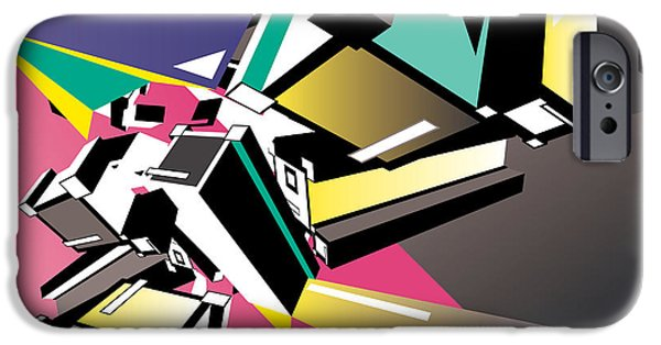 Fractal iPhone 6s Case - Geometric Colorful Design Abstract by Singpentinkhappy