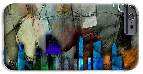 Houston Texas Skyline Watercolor IPhone 6s Case
