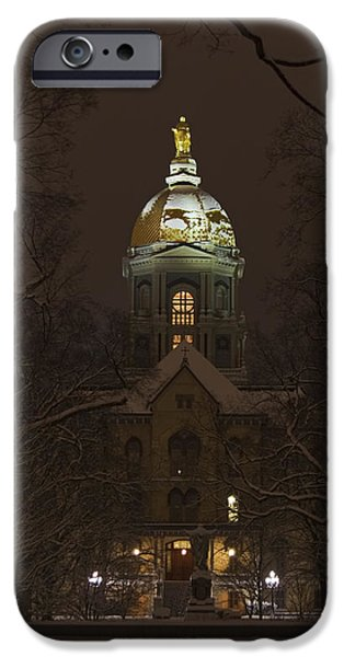 Notre Dame Golden Dome Snow IPhone 6s Case by John Stephens