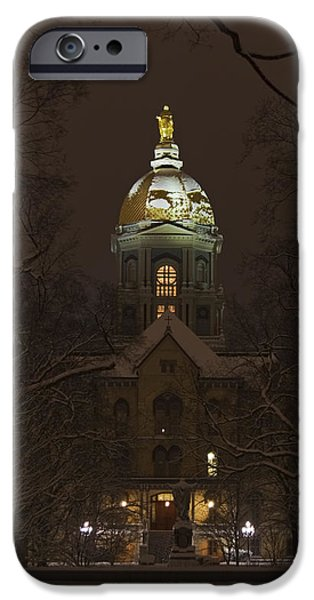 Notre Dame Golden Dome Snow IPhone 6s Case