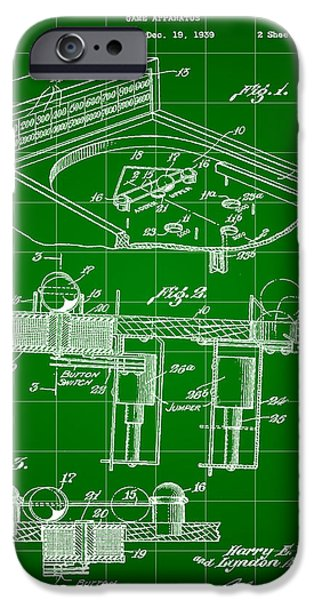 Pinball Machine Patent 1939 - Green IPhone 6s Case by Stephen Younts