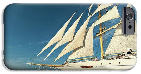 Cruise Ship iPhone 6s Case - Star Flyer Sailing Cruise Ship, Costa by Sergio Pitamitz