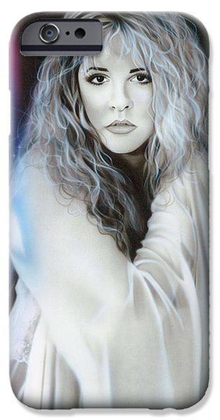 Contemporary Realism iPhone 6s Case - Stevie Nicks by Christian Chapman Art