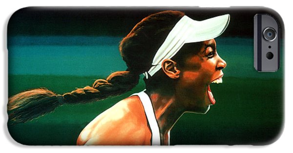 Serena Williams iPhone 6s Case - Venus Williams by Paul Meijering
