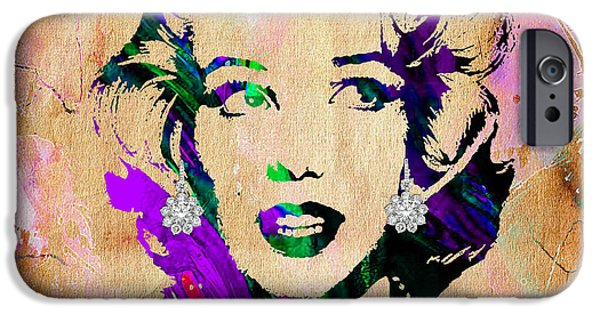 Marilyn Monroe Diamond Earring Collection IPhone 6s Case by Marvin Blaine