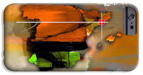 Barcelona Spain Map Watercolor IPhone 6s Case