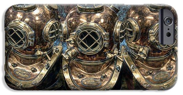 Scuba Diver iPhone 6s Case - 3 Deep-diving Helmets by Daniel Hagerman